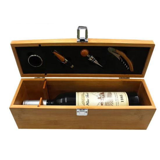 Best Selling Luxury Bamboo Wooden Wine Gift Box