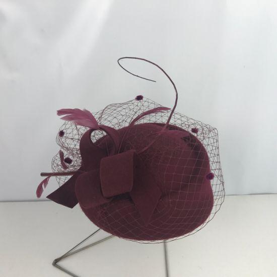Wholesale High Quality Wool Felt Cloche Millinery Hat