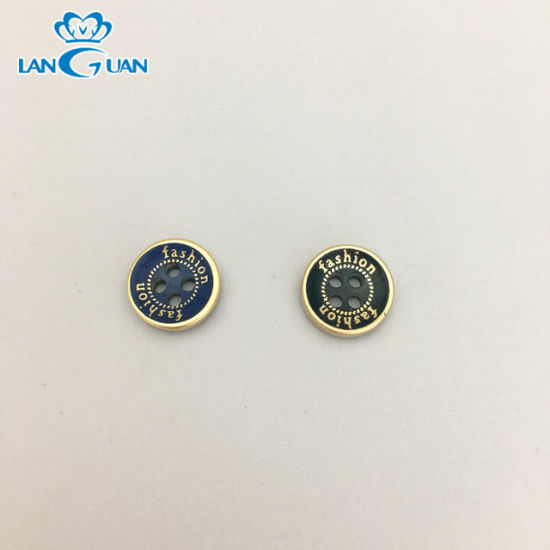 Customized Recycled Plastic Resin 4 Hole Button