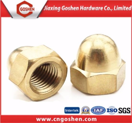 Brass Hex Domed Cap Nut/ Acron Nut with Factoty Price pictures & photos