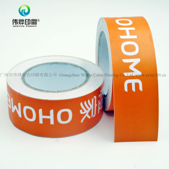 Low price printing logo self adhesive labels roll sticker