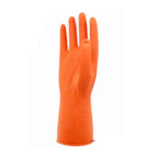 Orange Industrial Latex Safety Work Gloves