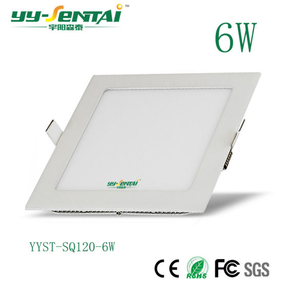 High Lumen 6W/12W Round/Square Thin LED Panellight for Indoor Light pictures & photos
