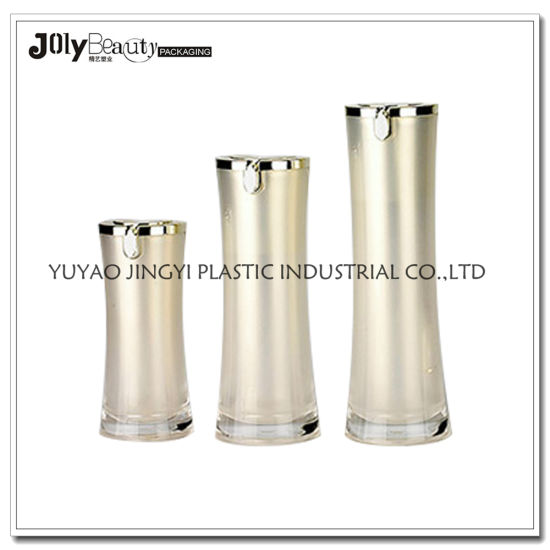 Clear Round Cosmetic Plastic Bottle Plastic Cosmetic Bottle Cosmetic Packaging Bottle pictures & photos