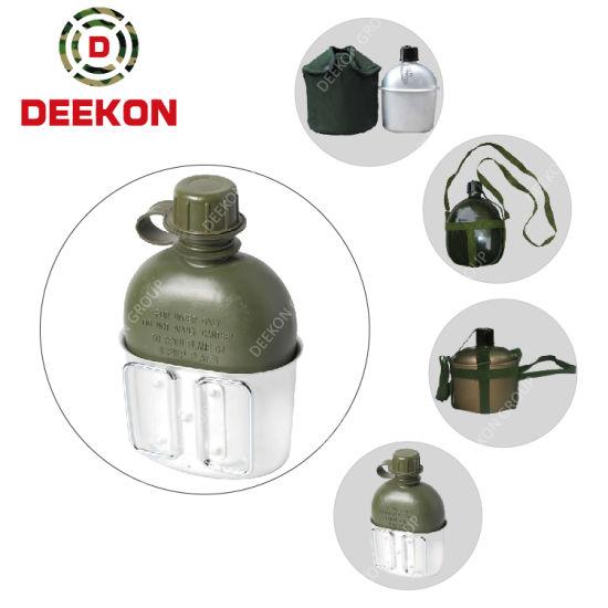 BPA Free Flat Shape Military Aluminum Bottle Sport Bottle Army Canteen Water