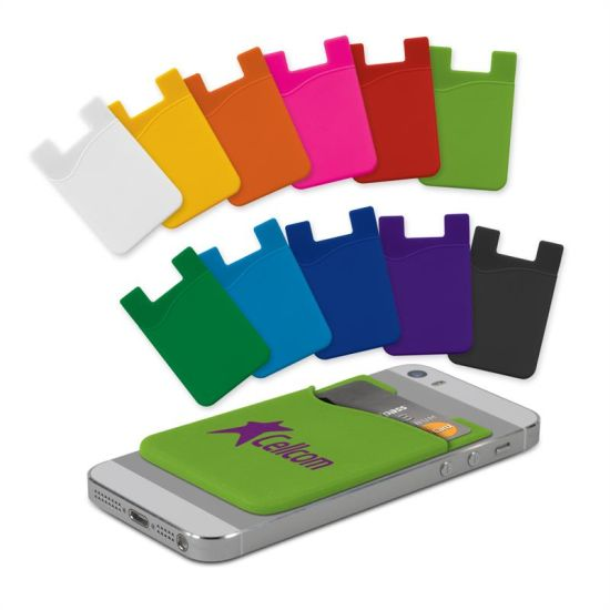 Promotional 3m Adhesive Silicone Smart Phone Wallet, Cell Phone Credit Card Holder