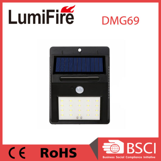 SMD LED Outdoor Solar Panel Waterproof Motion Sensor Wall Light