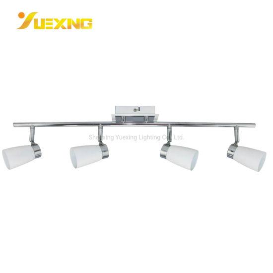 Twin Bar Spotlight LED GU10 Mains Chrome Satin Adjustable 2 Spot Light Ceiling