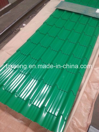 Color Coated Steel Building Material Glazed PPGI Roof Tile Popular in Europe pictures & photos