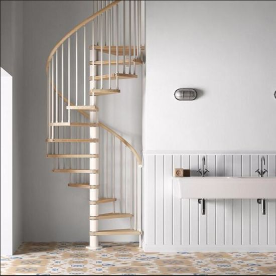 Ordinaire Low Cost Price Design Round Stair Indoor Used Used Metal Stainless Steel  Glass Spiral Staircase