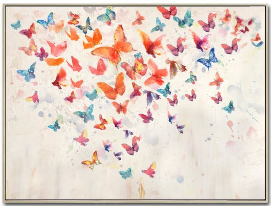 Butterflies Oil Picture with HP for Wall Art GF-P190522112 pictures & photos