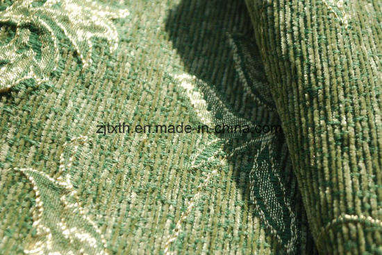 Green Chenille Upholstery Fabric by Cheaper Quality pictures & photos