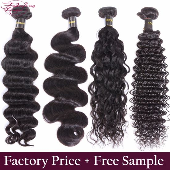 Wholesale 100% Virgin Human Hair Double Weft Brazilian Hair pictures & photos