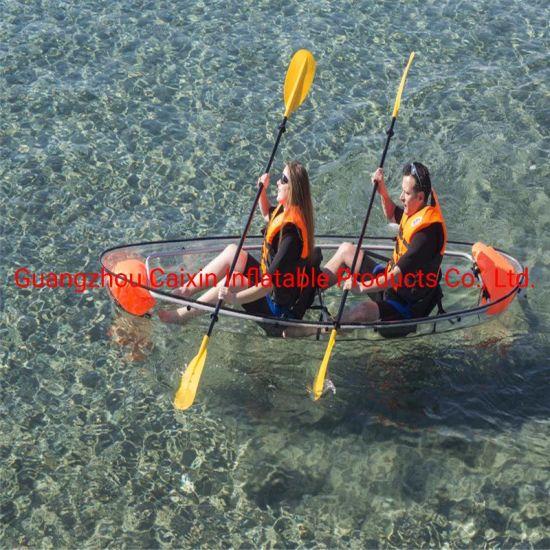 High Quality Ce Certificate Plastic Transparent Clear Tandem Canoe Kayak