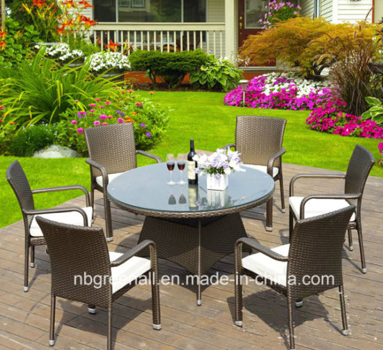 china 4 6 seaters synthetic rattan outdoor garden furniture dining