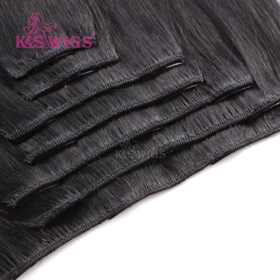 Brazilian Remy Hair Virgin Human Hair Clip in Hair Extension pictures & photos