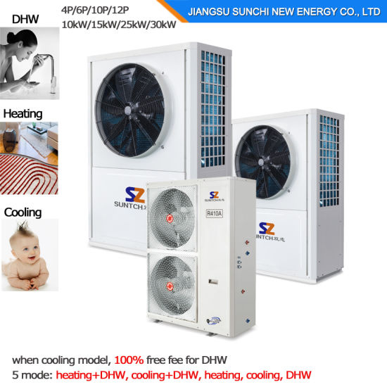 Amb. -25c Winter House Floor Heating100~350sq Meter Room 12kw/19kw/35kw Evi Air Source Best Heat Pump Condensor Split Water Heater