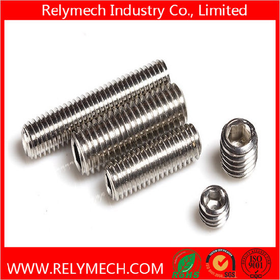 China Hex Socket Head Set Screw with Cup Point in Stainless
