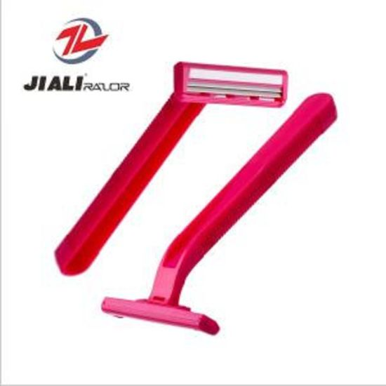 Lot of 100 Pieces Bulk Twin Blade Unisex Disposable Razors With Rubber Grip