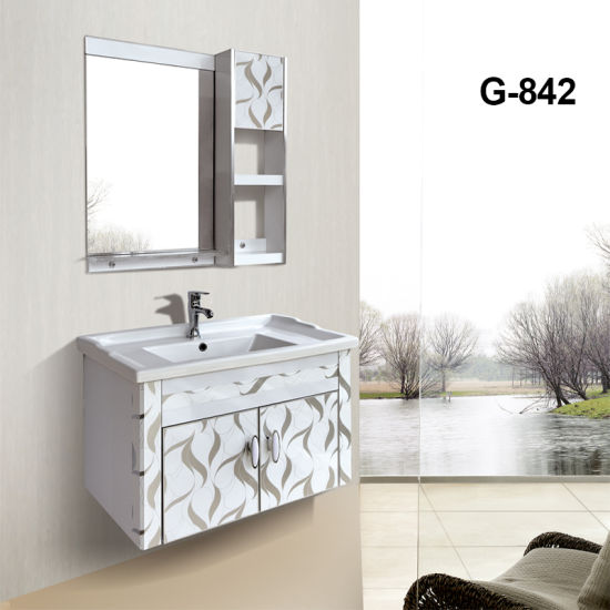 Simple And Best Price Pvc Bathroom Vanity Cabinets