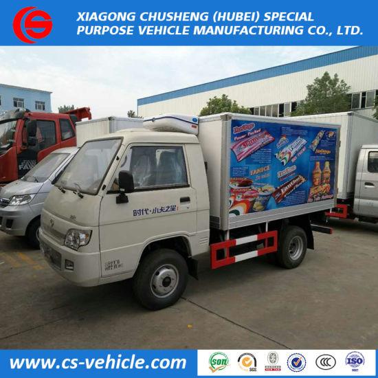 b5fecc4418 China Foton Mini Small Refrigerated Freezer Van Trucks 2 Tons for ...