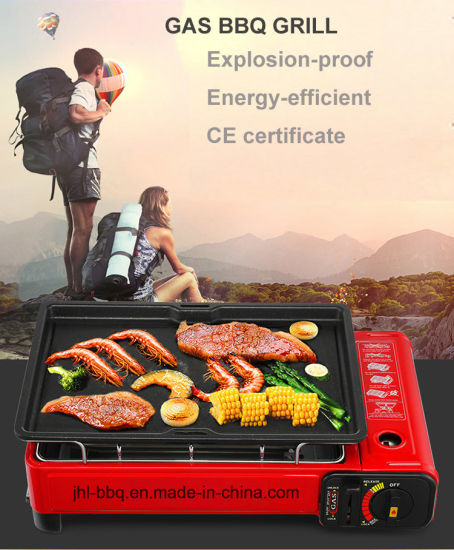 Portable Gas BBQ Grill with Duplicate Safety Devices
