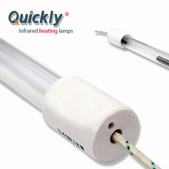 Customized White Coating Single Tube Medium Wave IR Heater for MDF Powder Coating