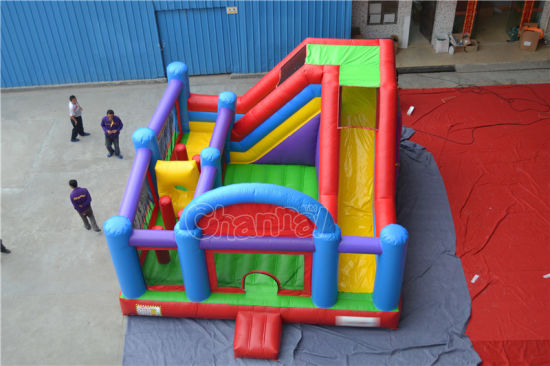 Colorful Inflatable Bouncer Combo with Obstacle Course (chb562) pictures & photos