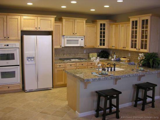 China Light Wood Kitchen Cabinet Lw20, Kitchen Cabinets Light Wood