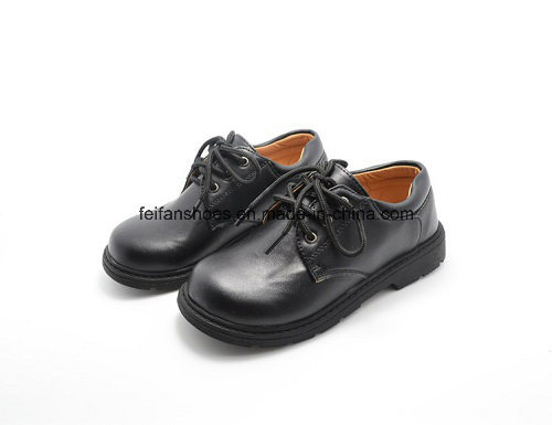 High Quality Classic Leather Shoes Student Shoes Dress Shoes (FF624-2) pictures & photos