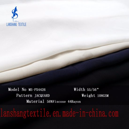 44%Rayon 56%Viscose Fabric for Dress Shirt Leisure Clothes