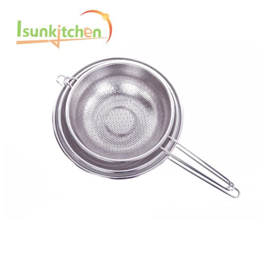 16.5stainless Steel Multifunction Colanders/Fruit Basket/Strainer with Long Handle