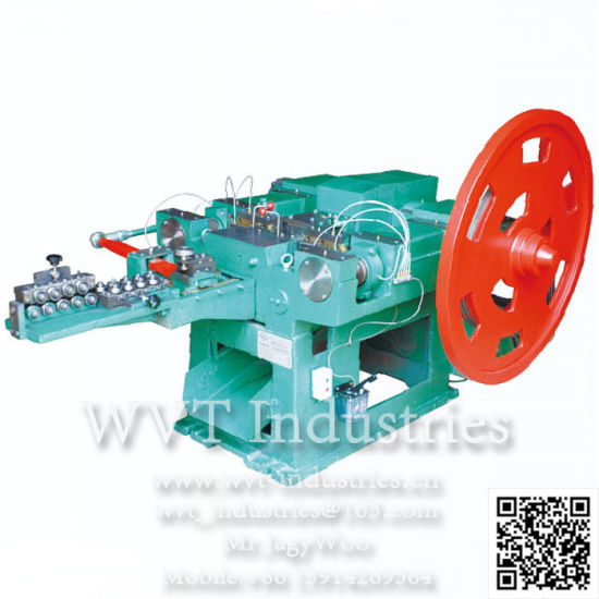 Galvanized Concrete Nail Making Production Line/Coil Nail Making Machine and Ring Type Nail Thread Rolling Machine/Nail Twisting Machine pictures & photos