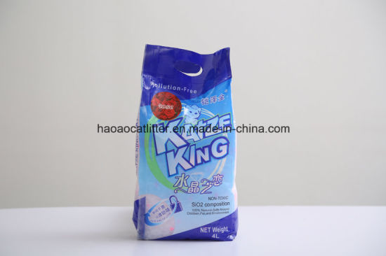 Blue and Wihte Silica Gel No Clumping Cat Litter pictures & photos