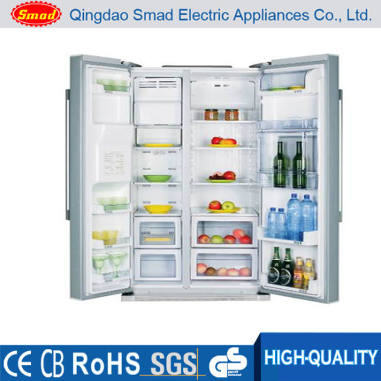 China Side By Side Double Door Refrigerator No Frost Fridge With Ice