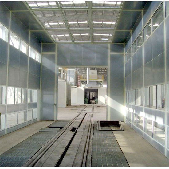 Bus Spray Booth with Ground Rail and Heat Insulation Panel