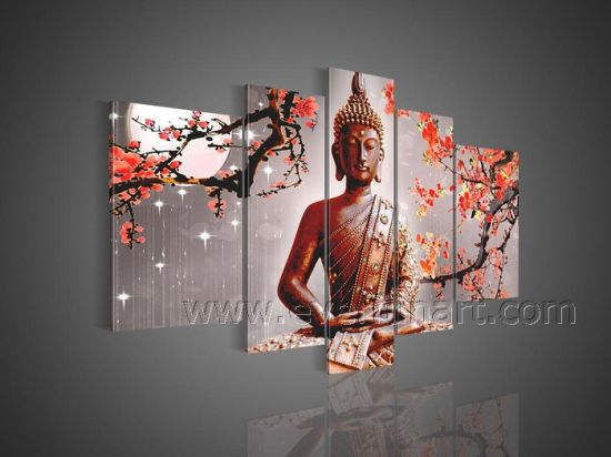 Hand Painted Buddha Oil Painting Abstract Canvas Wall Art pictures & photos