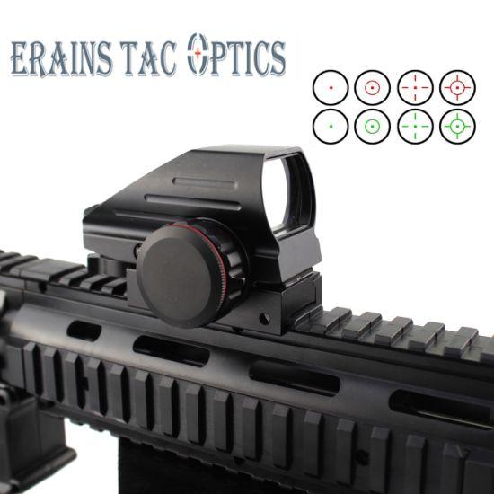 Erains Tac Optics 1X33 mm Tactical Red DOT Reflex Sights Scope Riflescope Optics 20mm Picatinny Red / Green4 Reticle DOT Reflex Optics Sight