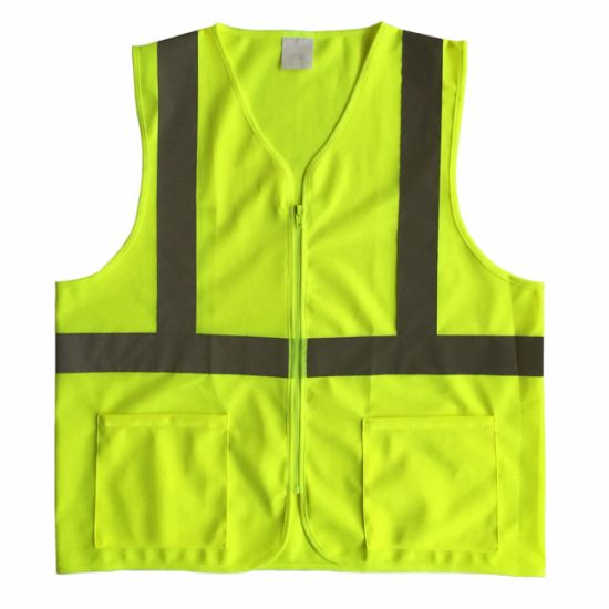 En20471 Reflective Safety Vest with Pockets