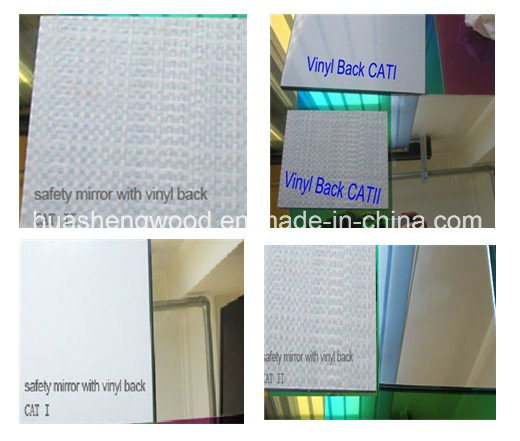 Safety Vinyl Film Back Cat Silver Mirror for Bathroom Mirror Makeup Mirror pictures & photos