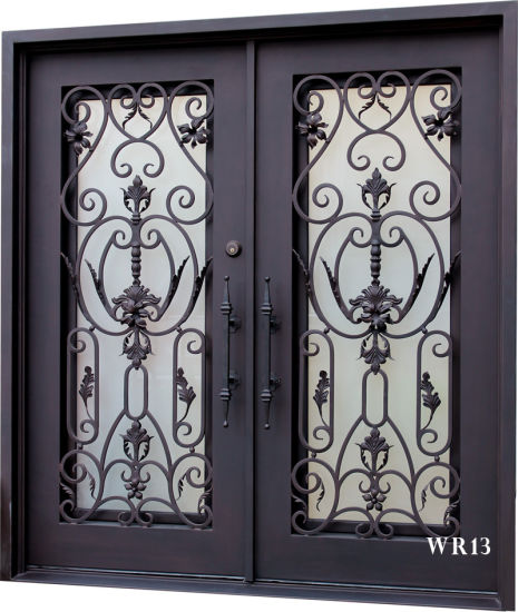 Hand Made Exterior Iron Double Doors For Sale 36X84