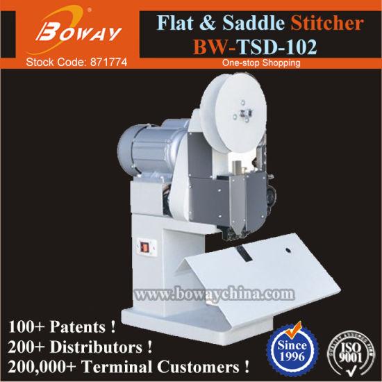 Boway Printshop School Gov Office Flat and Saddle Wire Stitching Stapling Binding Machine Tsd-102