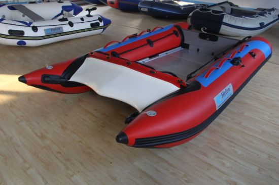 High Speed Cataraft Inflatable Boat High Speed Aluminum Boat