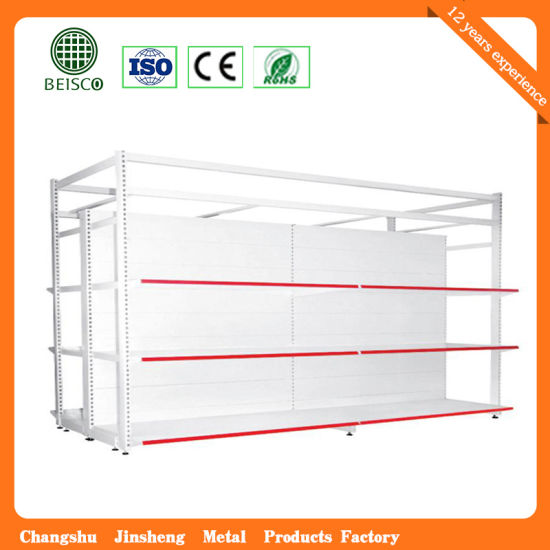 Strong Double Sides Hypermarket Display Rack with Competitive Prices pictures & photos