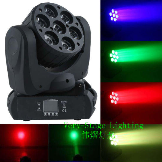 LED 7PCS 12W Osram 4 in 1 Beam Moving Head Light