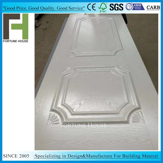 White Melamine Paper Moulded Door Skin pictures & photos