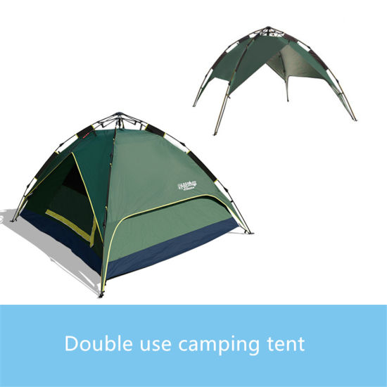 3-4 Person Double Layer Dual Doors Outdoor C&ing Tent Four Season Family Tents for Adventure Tent  sc 1 st  Beijing Unistrengh International Trade Co. Ltd. & China 3-4 Person Double Layer Dual Doors Outdoor Camping Tent Four ...