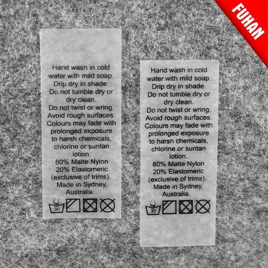 Customized Garment Transparent TPU Printed Wash Care Label