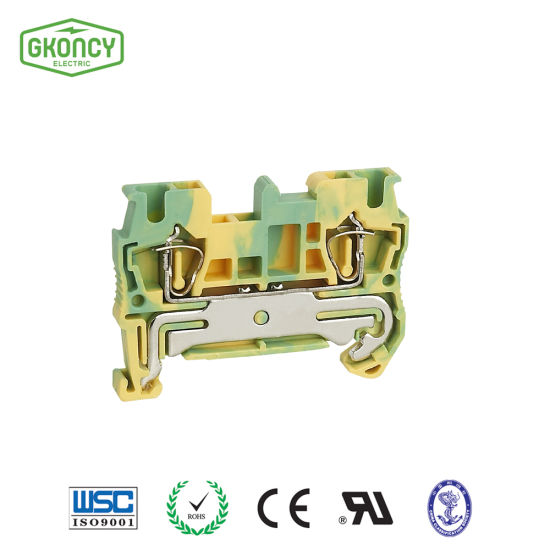 Jwd Return-Pulling Earth Clamp Dinrail Wire Connectors Spring-Cage