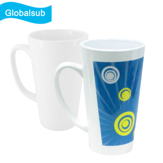 17oz V Shape Ceramic Coffee Mug with Sublimation Blanks pictures & photos
